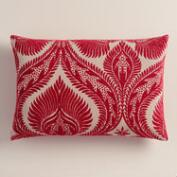 Chrysanthemum Pink Nouveau Lumbar Pillow