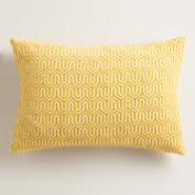 Gold Geo Chenille Lumbar Pillow