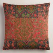 Orange and Red Marrakesh Jacquard Throw Pillow