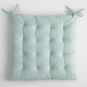 Ocean Blue Plush Chair Cushion