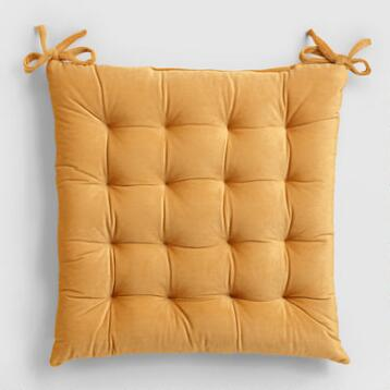 Amber Gold Plush Chair Cushion