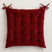 Red Velvet Chair Cushion