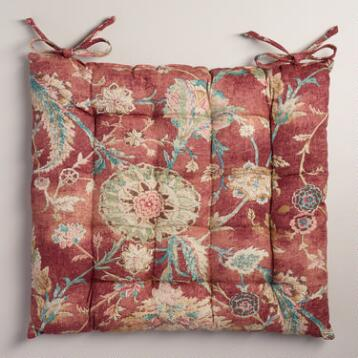 Red Genevieve Chair Cushion