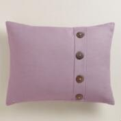 Grape Purple Basketweave Lumbar Pillow with Buttons
