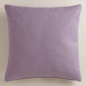Purple Herringbone Cotton Throw Pillow