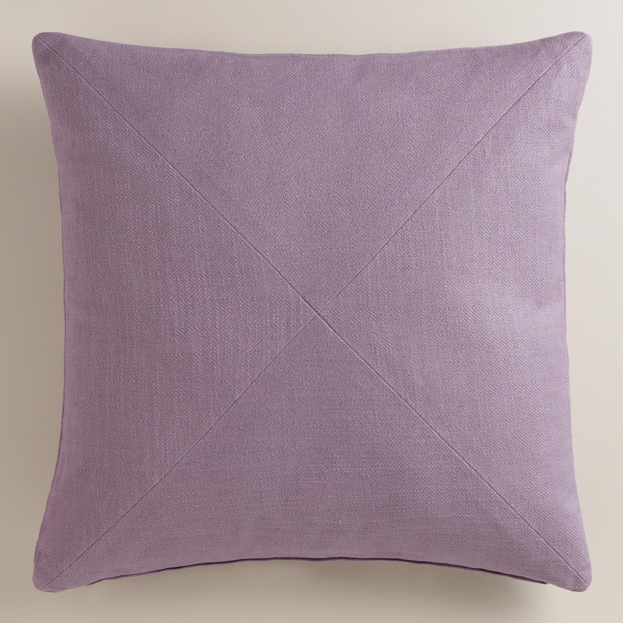 Purple Decorative Pillow : Purple Herringbone Cotton Throw Pillow World Market