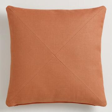 Autumn Leaf Orange Herringbone Throw Pillow