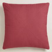 Garnet Red Herringbone Throw Pillow