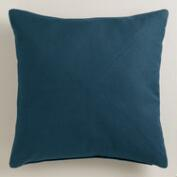 Royal Blue Herringbone Cotton Throw Pillow