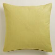 Willow Green Herringbone Throw Pillow