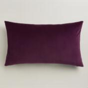 Wine Tasting Burgundy Velvet Lumbar Pillow