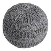 Charcoal Heather Gray Sweater Pouf