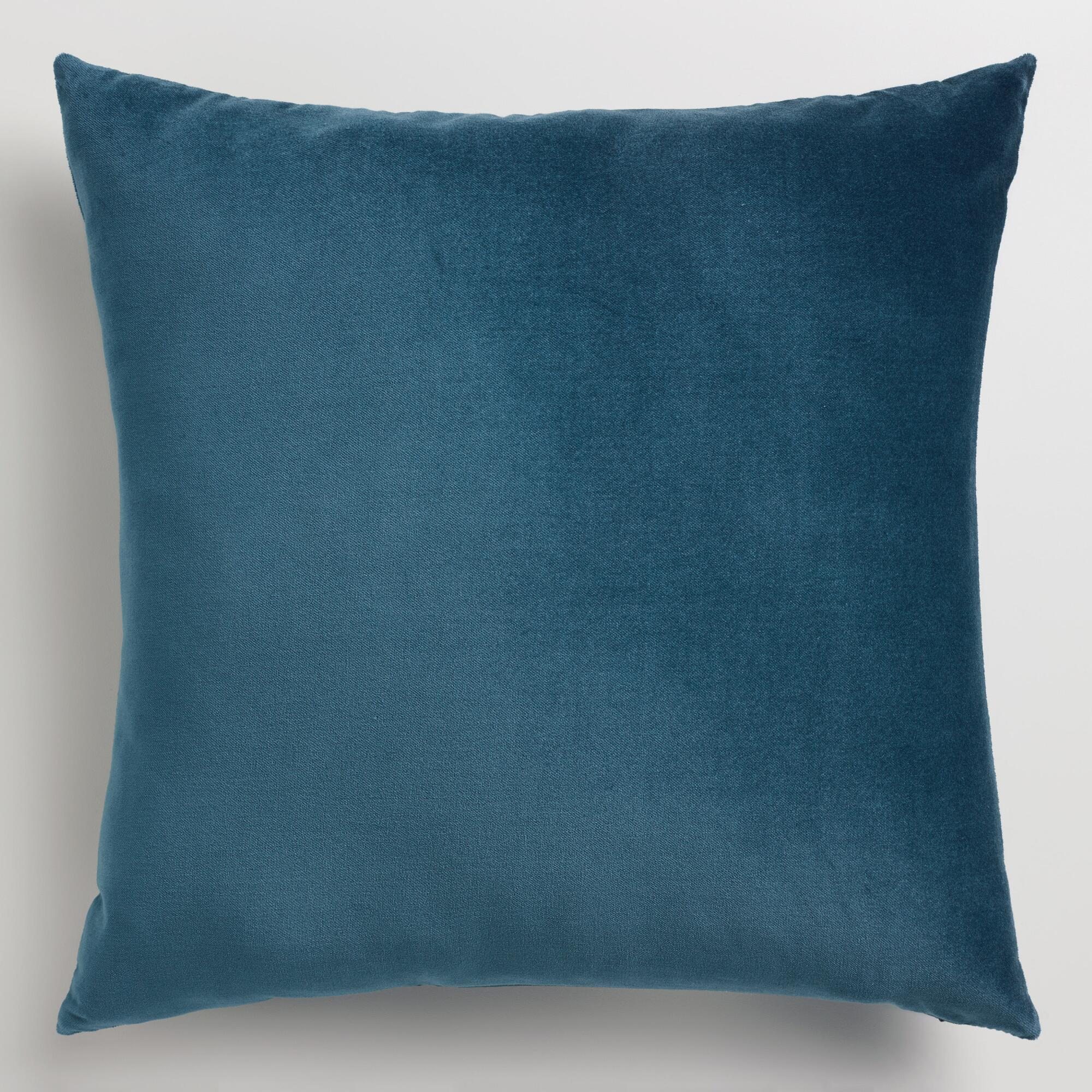 Throw Pillows Velvet : Midnight Blue Velvet Throw Pillow World Market