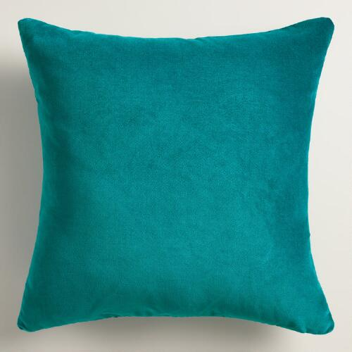 Teal Velvet Throw Pillow World Market