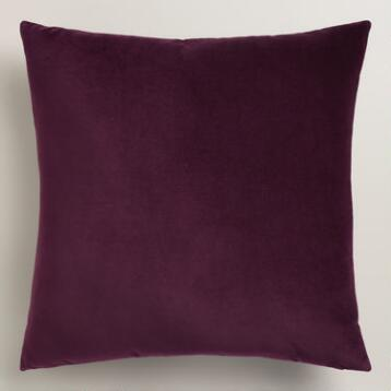 Wine Tasting Purple Velvet Throw Pillow