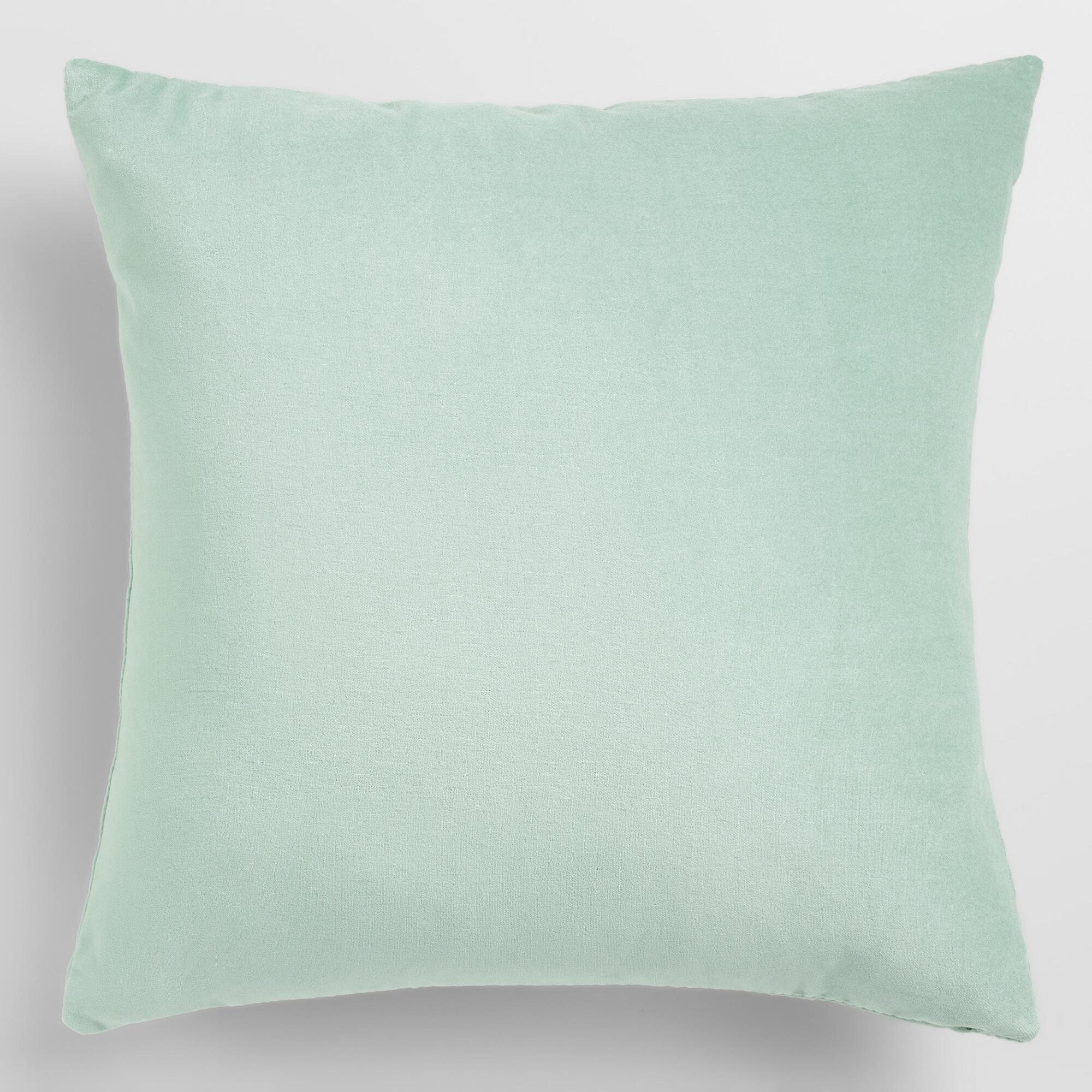 Ocean Blue Velvet Throw Pillow World Market