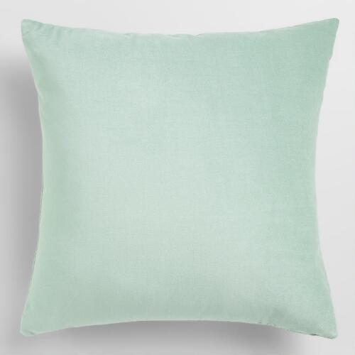 Ocean Blue Velvet Throw Pillow