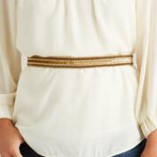 Tonal Gold Sequin and Bead Belt
