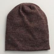 Brown Slouchy Beanie Hat