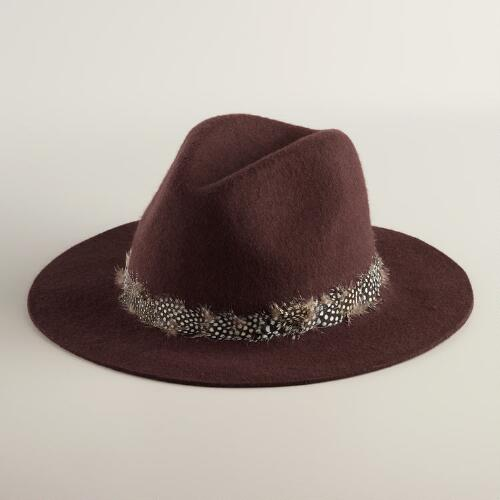 Olive with Feather Band Fedora Hat