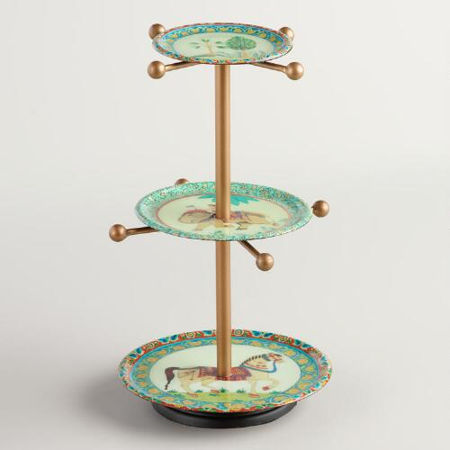 Aztec 3-Tier Jewelry Stand with Knobs