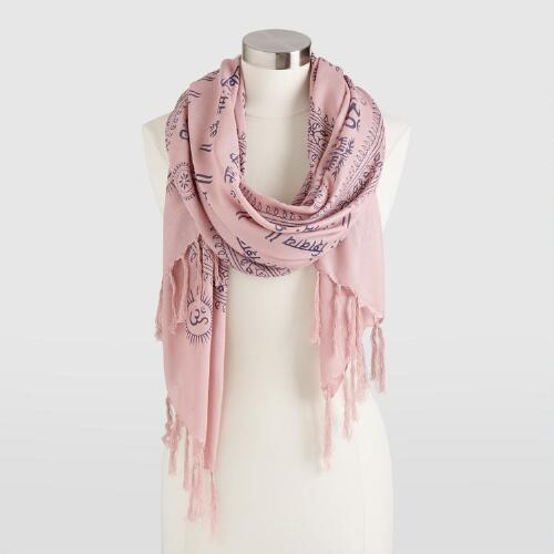 Prayer Shawl with Blush Border