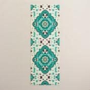 Green and Blue Medallion Yoga Mat