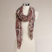 Lavender and Rose Paisley Scarf