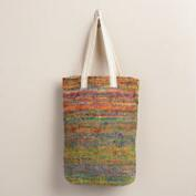 Multicolored Marled Knit Tote Bag