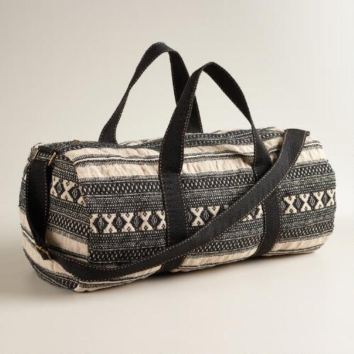 Black and Cream Tribal Weekender Bag