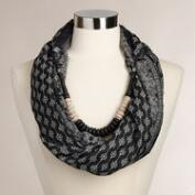 Black and White Infinity Scarf Necklace