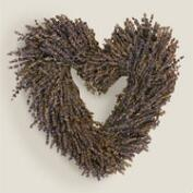 Live Lavender Heart-Shaped Wreath