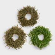 Live Herbal Wreaths, Set of 3