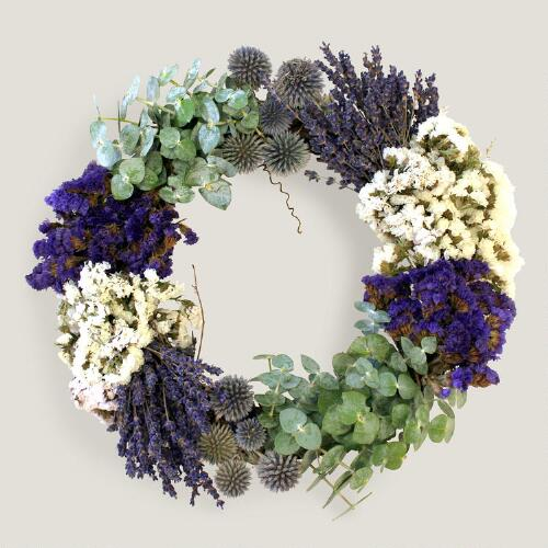 Live Fall Lavender Wreath