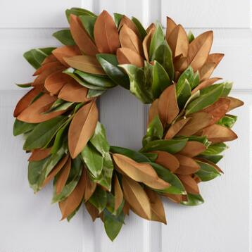 Live Magnolia Wreath