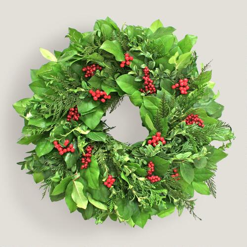 Live Festive Red Berry Wreath