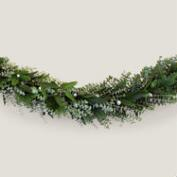 Live 6' Holiday Fir and Ornament Garland