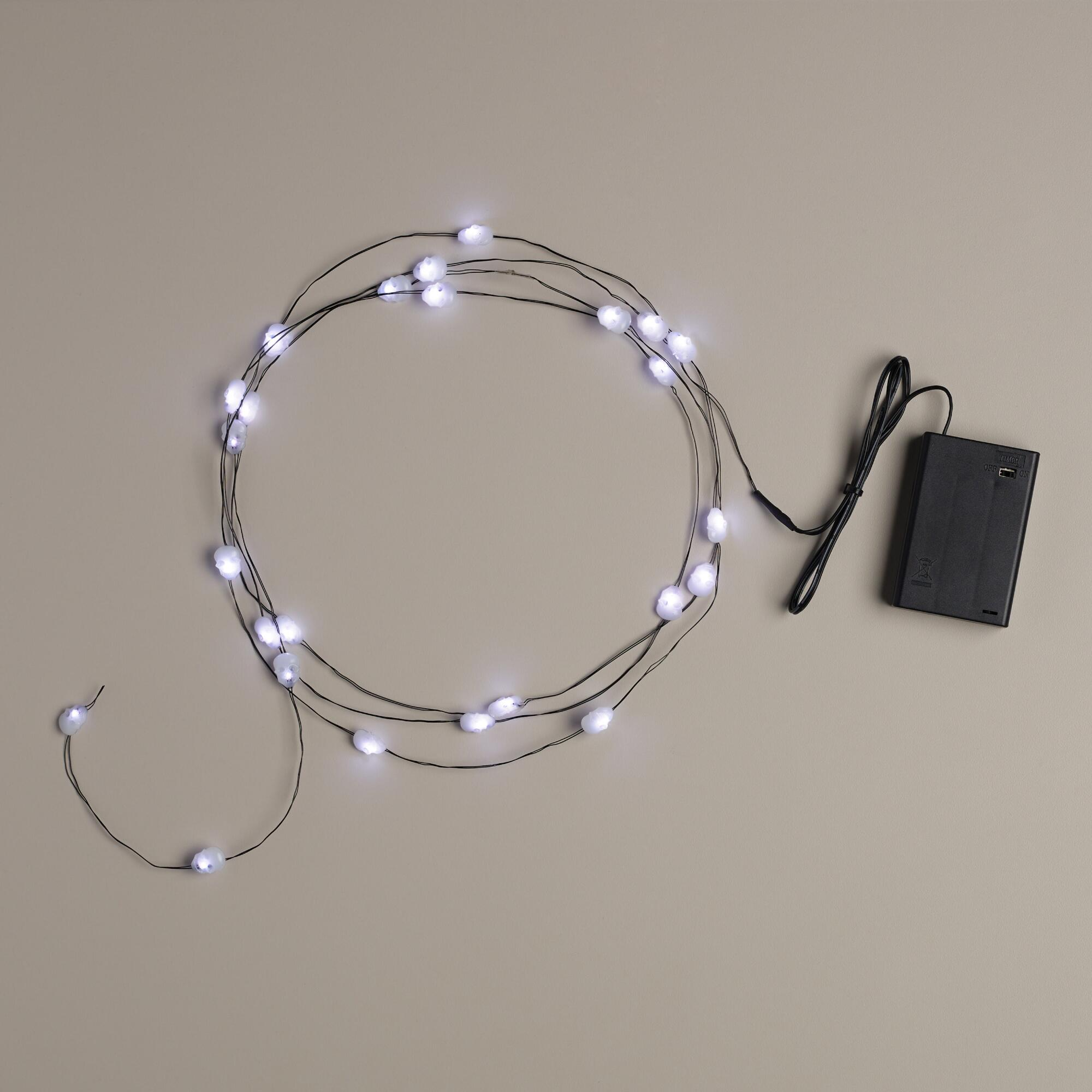 Led String Lights Micro : Skull Micro LED 25-Bulb Battery Operated String Lights World Market