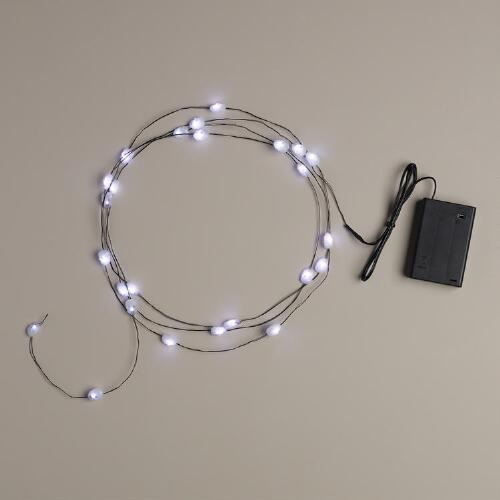 Skull Micro LED 25-Bulb Battery Operated String Lights