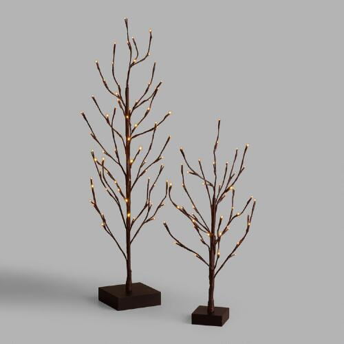 Brown Wrapped Micro LED Tree