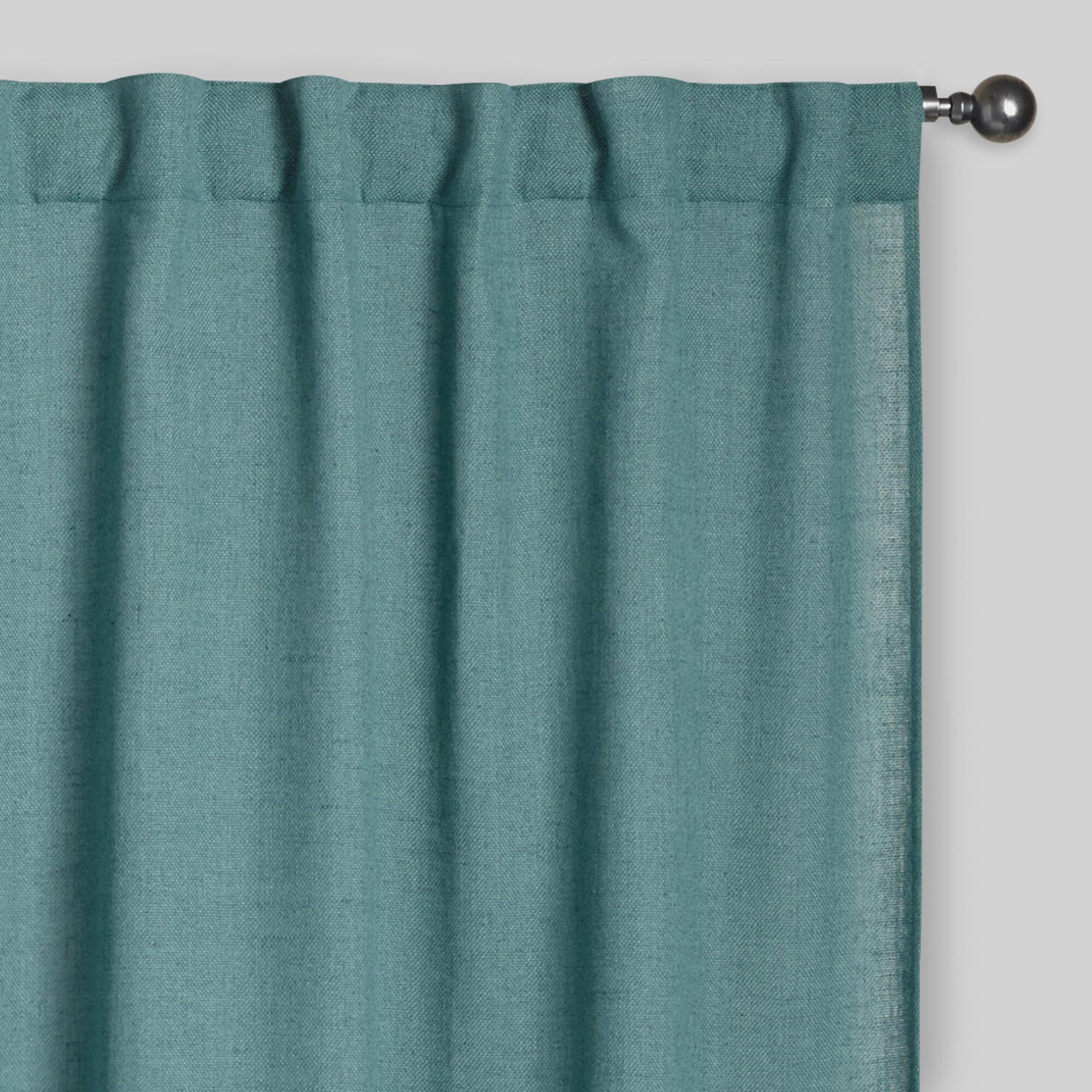 ocean blue bella concealed tab top curtains set of 2