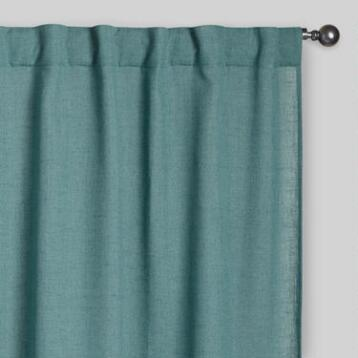 Ocean Blue Bella Concealed Tab Top Curtains, Set of 2