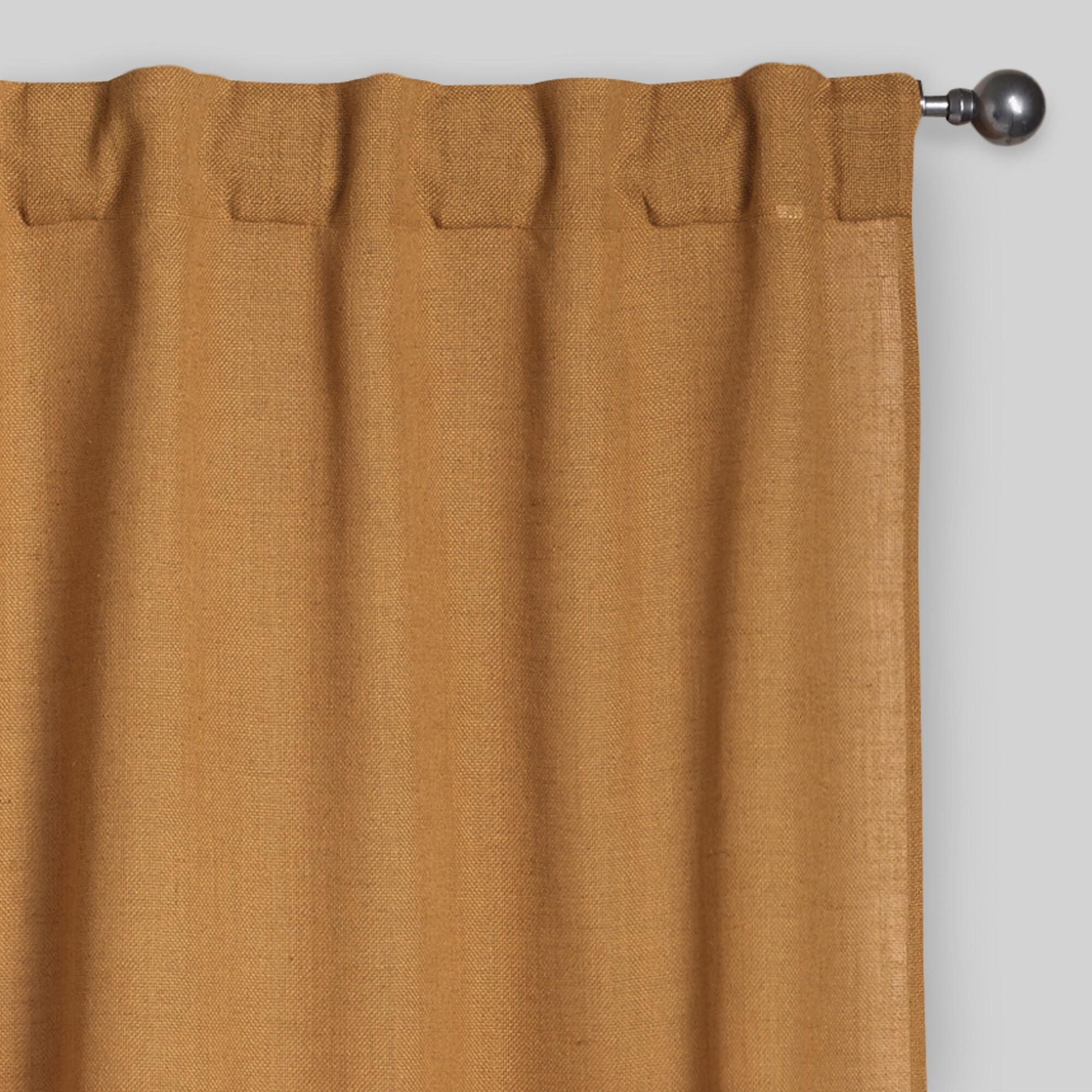 Amber Gold Bella Concealed Tab Top Curtains Set Of 2