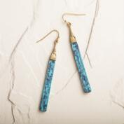 Gold and Patina Linear Drop Earrings