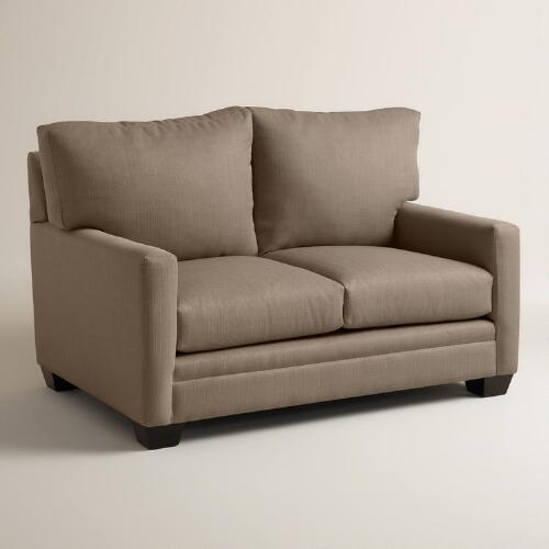 Textured Woven Holman Upholstered Love Seat