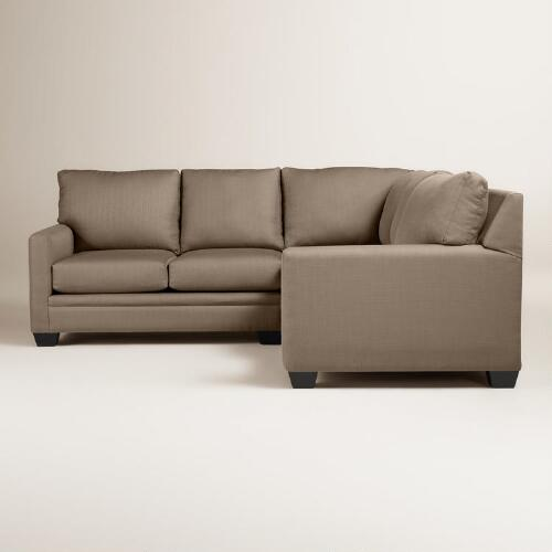 Textured Woven Holman Upholstered Left-Facing Sectional