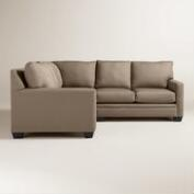 Textured Woven Holman Upholstered Right-Facing Sectional