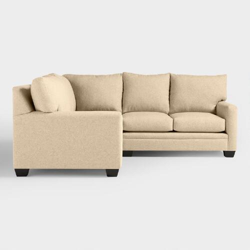 Chunky Woven Holman Upholstered Left-Facing Sectional