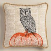 Owl Halloween Throw Pillow
