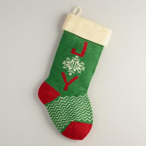 """Joy"" Knit Stocking"